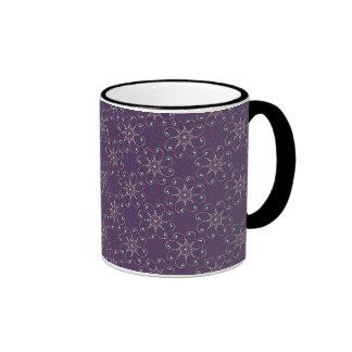 Dainty Octo-Fleur Ringer Coffee Mug