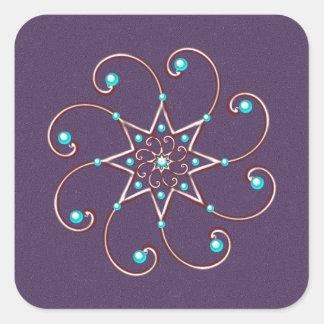Dainty  Octo-Fleur Stickers-20 per sheet Square Square Sticker
