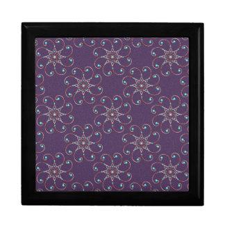 "Dainty Octo-Fleur Wood Gift Box w/ 6"" Tile"