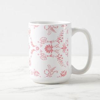 Dainty Pink Damask Design Coffee Mug
