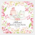 *Dainty Pink Floral Bridal Tea Party Envelope Seal