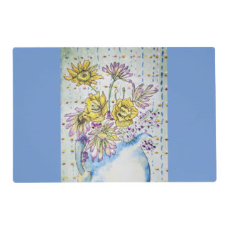 Dainty Vintage Floral Painting Reversible Placemat