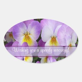 Dainty Violas ~ Oval Sticker