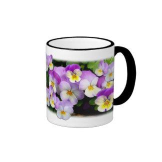 Dainty Violas ~ Ringer Mug