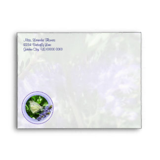 Dainty White Butterfly A2 Envelope