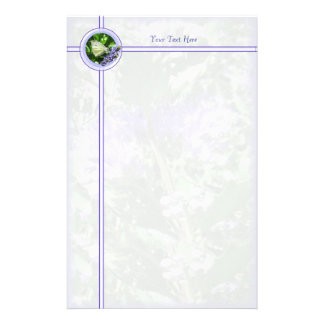 Dainty White Butterfly Bordered Stationery