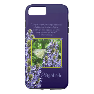 Dainty White Butterfly Garden Custom iPhone 7 Plus Case