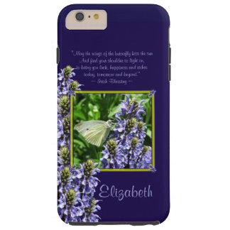Dainty White Butterfly Garden Custom Tough iPhone 6 Plus Case
