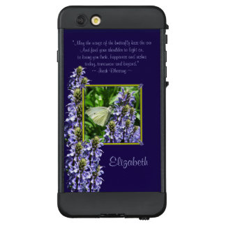 Dainty White Butterfly Moth Irish Blessing Custom LifeProof NÜÜD iPhone 6 Plus Case