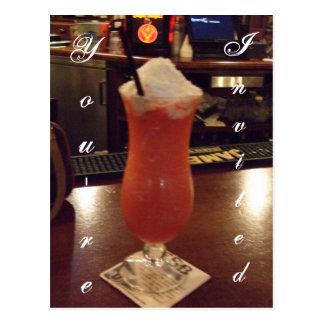 Daiquiri Cocktail Party Invitation Postcard