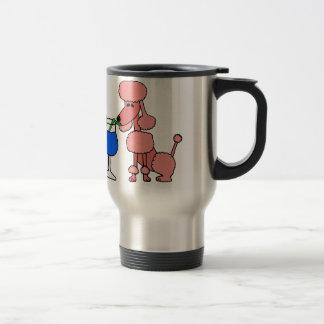 Daiquirí de consumición del caniche rosado taza de viaje
