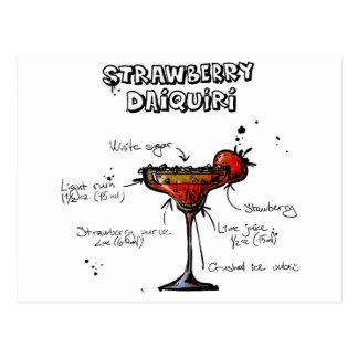 Daiquirí de Strawbeery de la receta del cóctel Tarjeta Postal