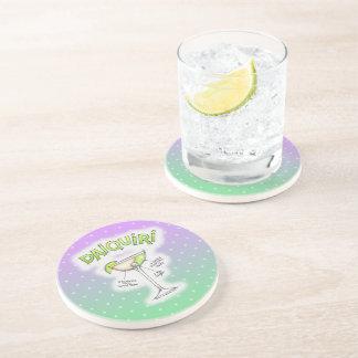 DAIQUIRI RECIPE COCKTAIL ART DRINK COASTER