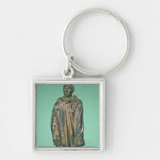 d'Aire de Jean, de los Burghers de Calais (bronce) Llavero Cuadrado Plateado