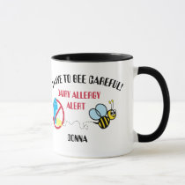 Dairy Allergy Alert Bumble Bee Mug