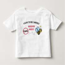 Dairy Allergy Alert Bumblebee Personalized Toddler T-shirt