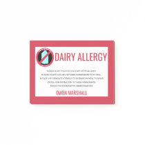 Dairy Allergy Alert Restaurant Chef Custom Post-it Notes