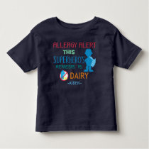 Dairy Allergy Alert Superhero Boy Silhouette Toddler T-shirt