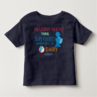 Dairy Allergy Alert Superhero Boy Silhouette Toddler T-shirt