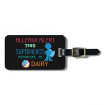 Dairy Allergy Boy Superhero Alert Tag Epinephrine
