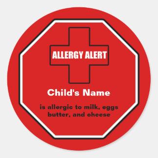 Dairy Allergy Medical Alert Custom Std Sticker