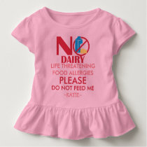 Dairy Allergy Shirt, Do not feed me Toddler T-shirt