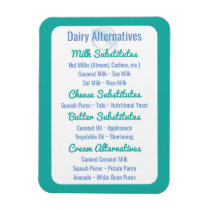 Dairy Alternatives Reference Dairy Substitutes Magnet