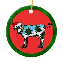 Dairy Christmas Ceramic Ornament