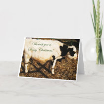 Dairy Christmas Holiday Card