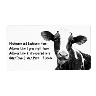 Dairy Cow - Black and White Dairy Calf Label