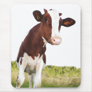 Dairy Cow -   Brown & White Holstein Mouse Pad