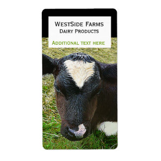 Dairy Cow Calf  Product Label Sticker