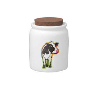 Dairy Cow Candy Jars