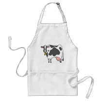 Dairy Cow Cartoon Adult Apron