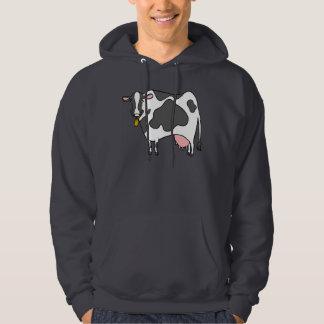 Dairy Cow Cartoon Hooded Sweatshirt