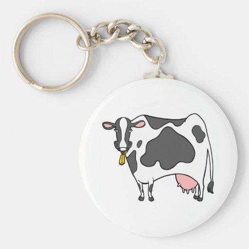 Dairy Cow Cartoon Keychains