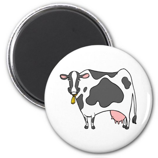Dairy Cow Cartoon Magnet