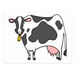 Dairy Cow Cartoon Postcard