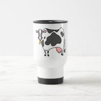 Dairy Cow Cartoon Travel Mug
