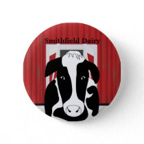 Dairy Cow Farm Barn Custom Button