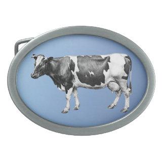Dairy Cow Oval Belt Buckle