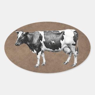 Dairy Cow Oval Sticker
