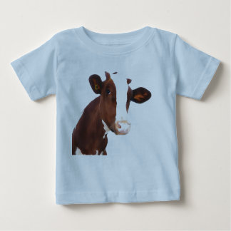 Dairy Cow -  Painted Brown & White Holstein Baby T-Shirt