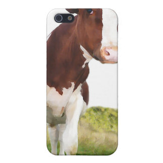 Dairy Cow -  Painted Brown & White Holstein Case For iPhone SE/5/5s