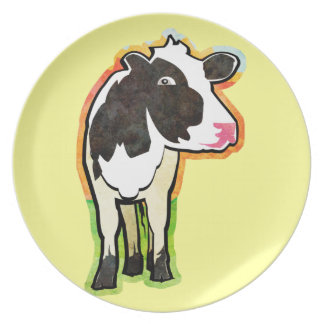 Dairy Cow Party Plate