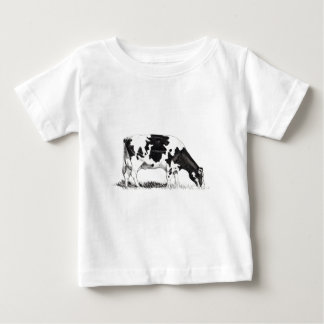 DAIRY COW, PENCIL ART BABY T-Shirt