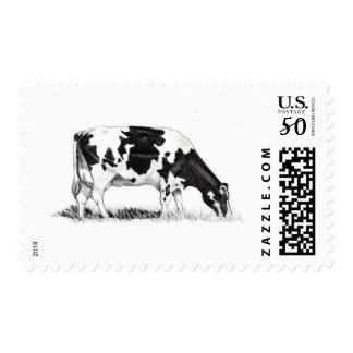 DAIRY COW, PENCIL ART POSTAGE