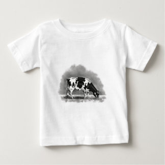 DAIRY COW, PENCIL DRAWING: ART INFANT T-SHIRT