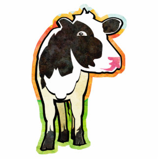 Dairy Cow Standing Photo Sculpture