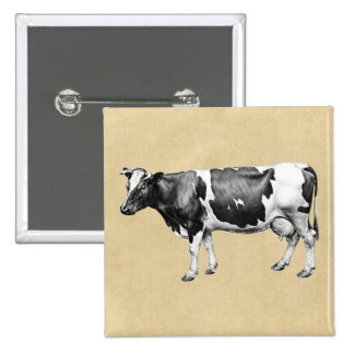 Dairy Cow Pinback Button